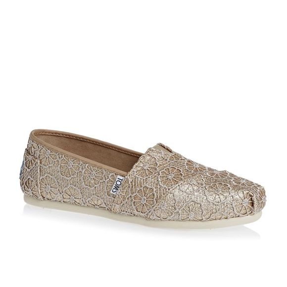 Toms Shoes Classic Rose Gold Glitter